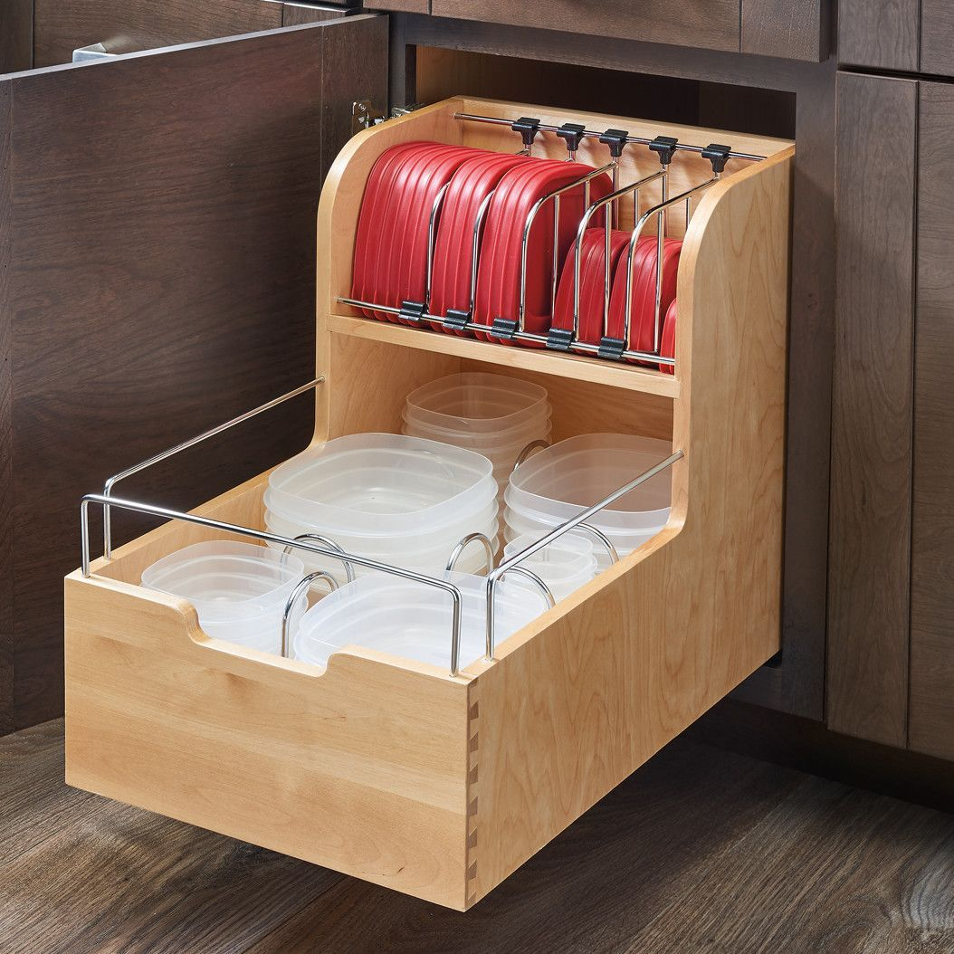 Use Storage Tubs as Pull-Out Drawers