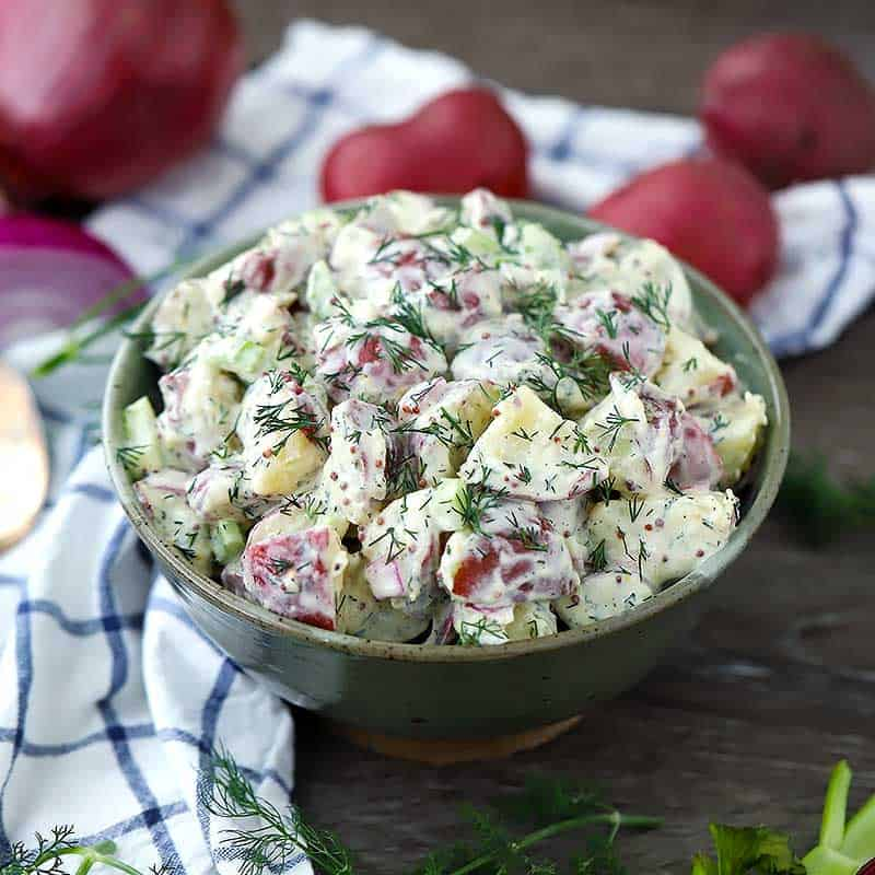 Add Dressing to Your Potato Salad