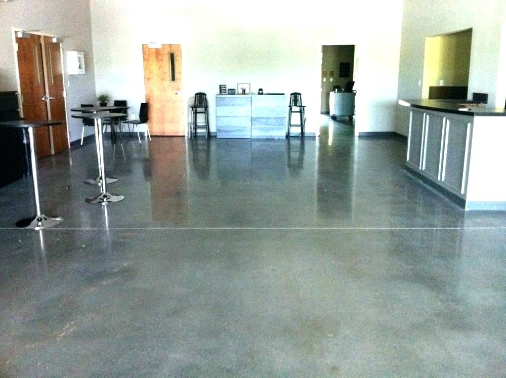 Interior and garage floors