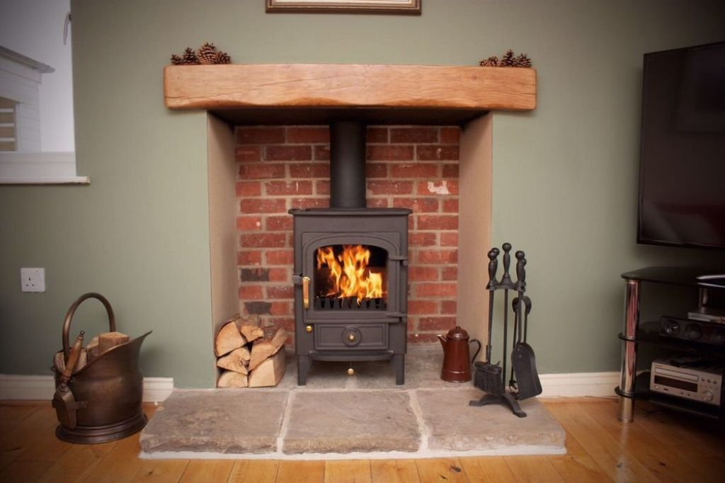 Can fireplace inside have brick slips