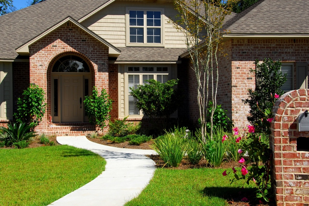 Attractive brick home and landscaping