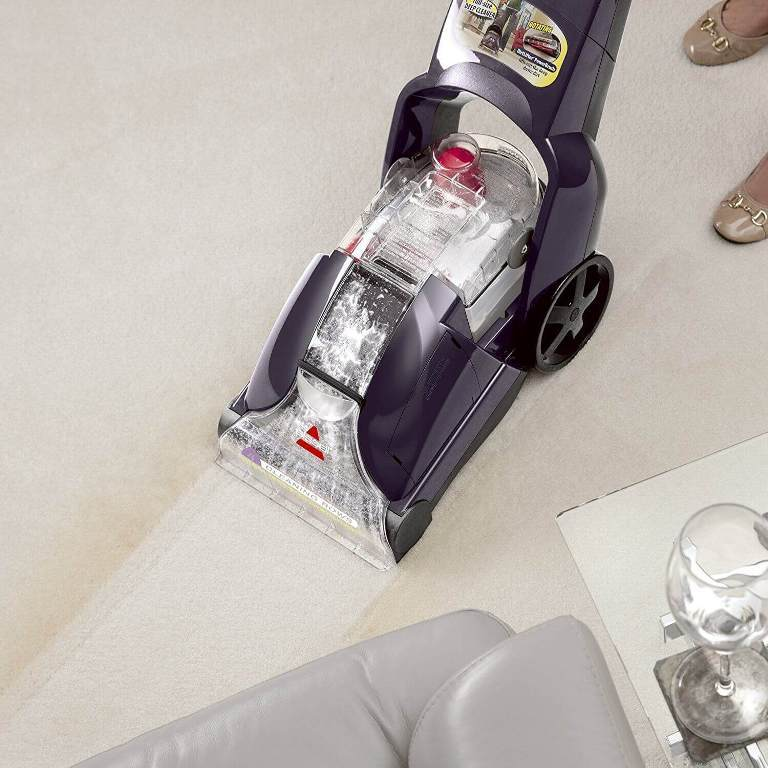 The settings of the carpet cleaner