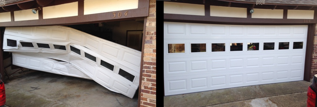 A faulty garage door may cause accidents.