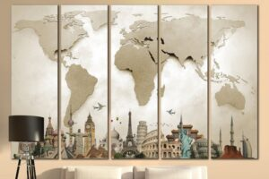 Why Travel Themed Wall Decor Has a Significant Role in Interior Decor