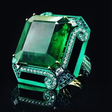 A Gorgeous Emerald and Diamond Ring
