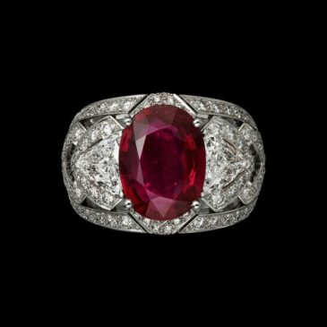 A Gorgeous Ruby and Diamond Ring by Cartier