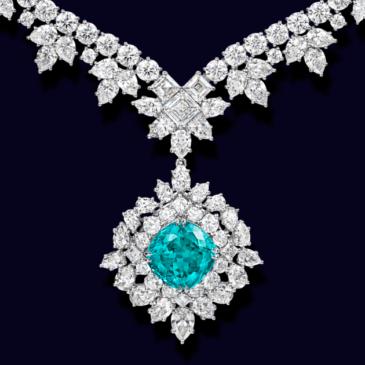 PARAIBA and DIAMOND NECKLACE by HARRY WINSTON