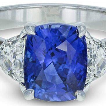 Gorgeous Sri Lanka Blue Sapphire and Diamond Engagement Ring 3.34cttw 18K White Gold GIA