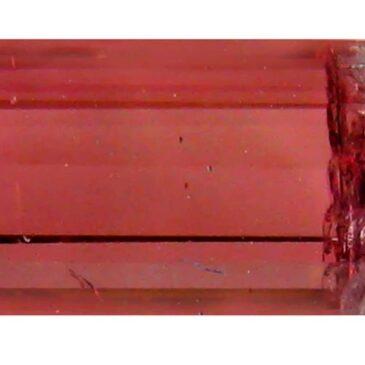 3.14 ct OCTAGON (12 x 5 mm) BRAZILIAN BI-COLOR WATERMELON TOURMALINE GENUINE LOOSE GEMSTONE