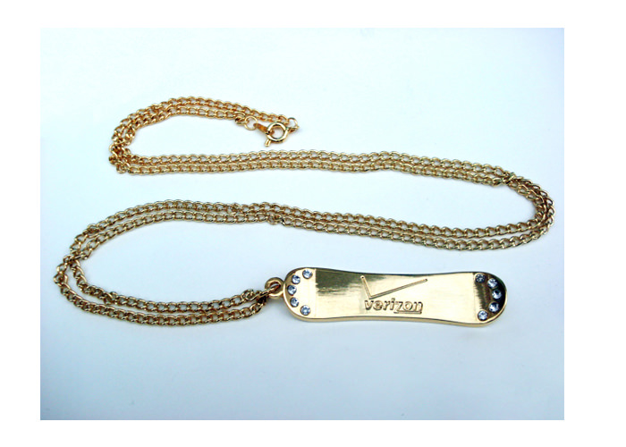 Verizon X-Games Custom Snowboard Necklace