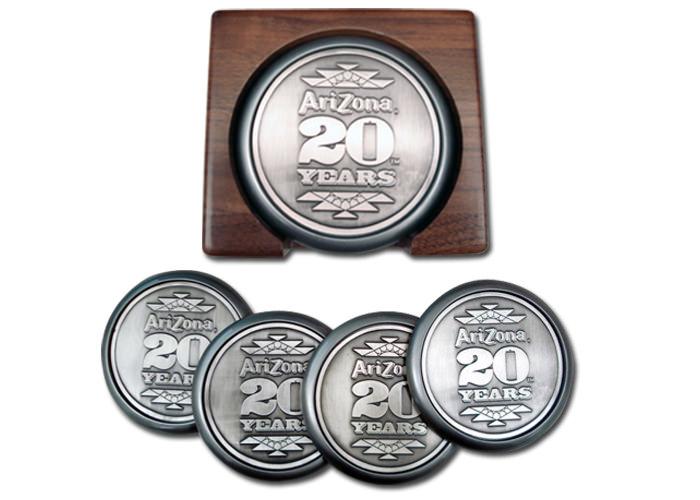 Arizona Iced Tea 20 Year Anniversary Coasters