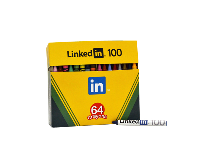 LinkedIn Custom Crayon Box