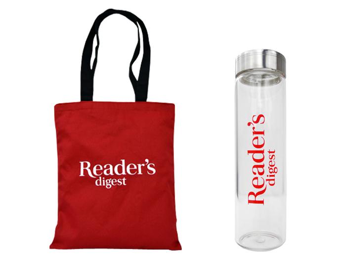 Reader Digest Tote Bag & Water Bottle