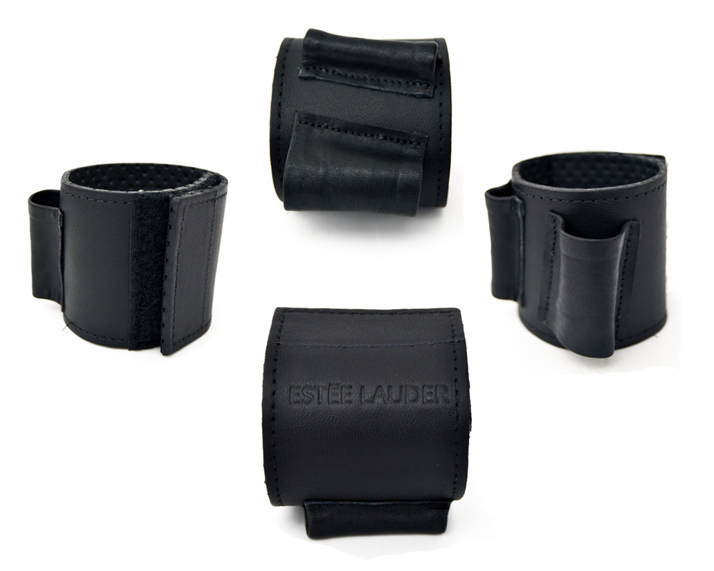 Estee Lauder Custom Leather Brush Holder Wristlet