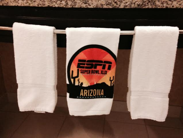 Custom Super Bowl Towel