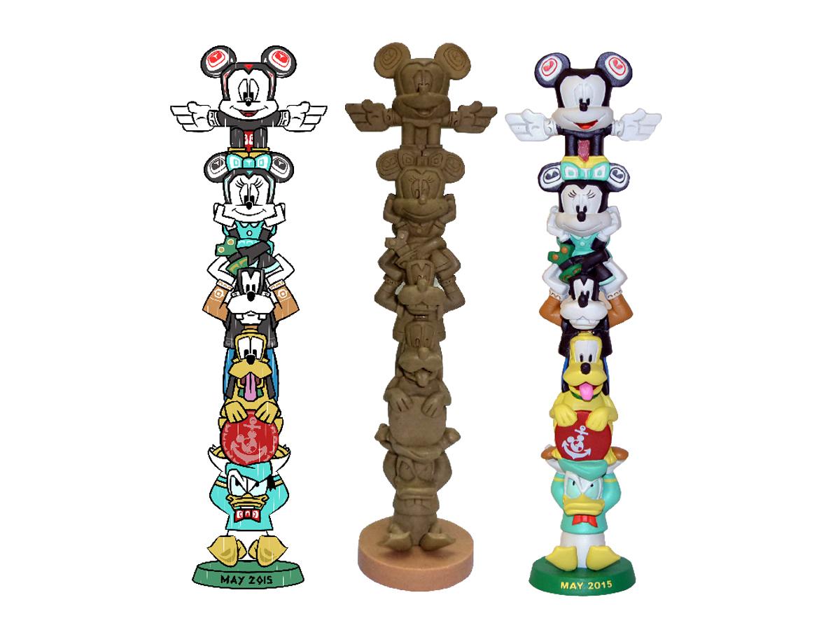 Disney Cruise Ship Character Totem Pole