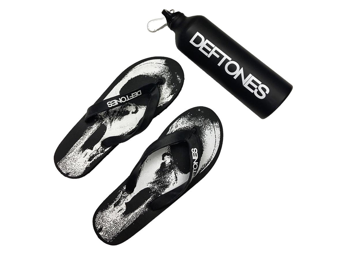 Deftones Flip-Flops & Water Bottle