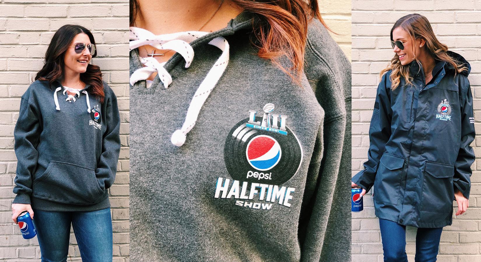 #CreatedByCaptiv8: Super Bowl LII Halftime Sweatshirts & Jackets