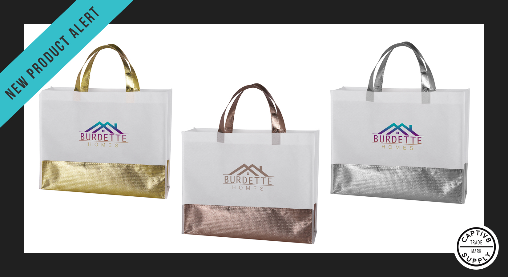 *Releasing Next Month* – Metallic Flair Non-Woven Tote Bag