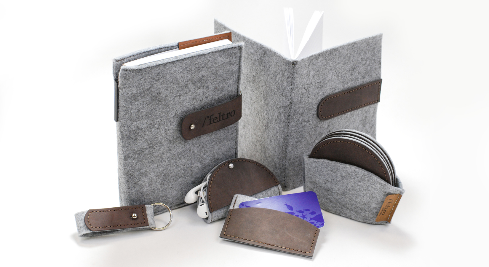 Up Your Brand With Upcycled Felt Products – Journals, Coasters, Luggage Tags & More!
