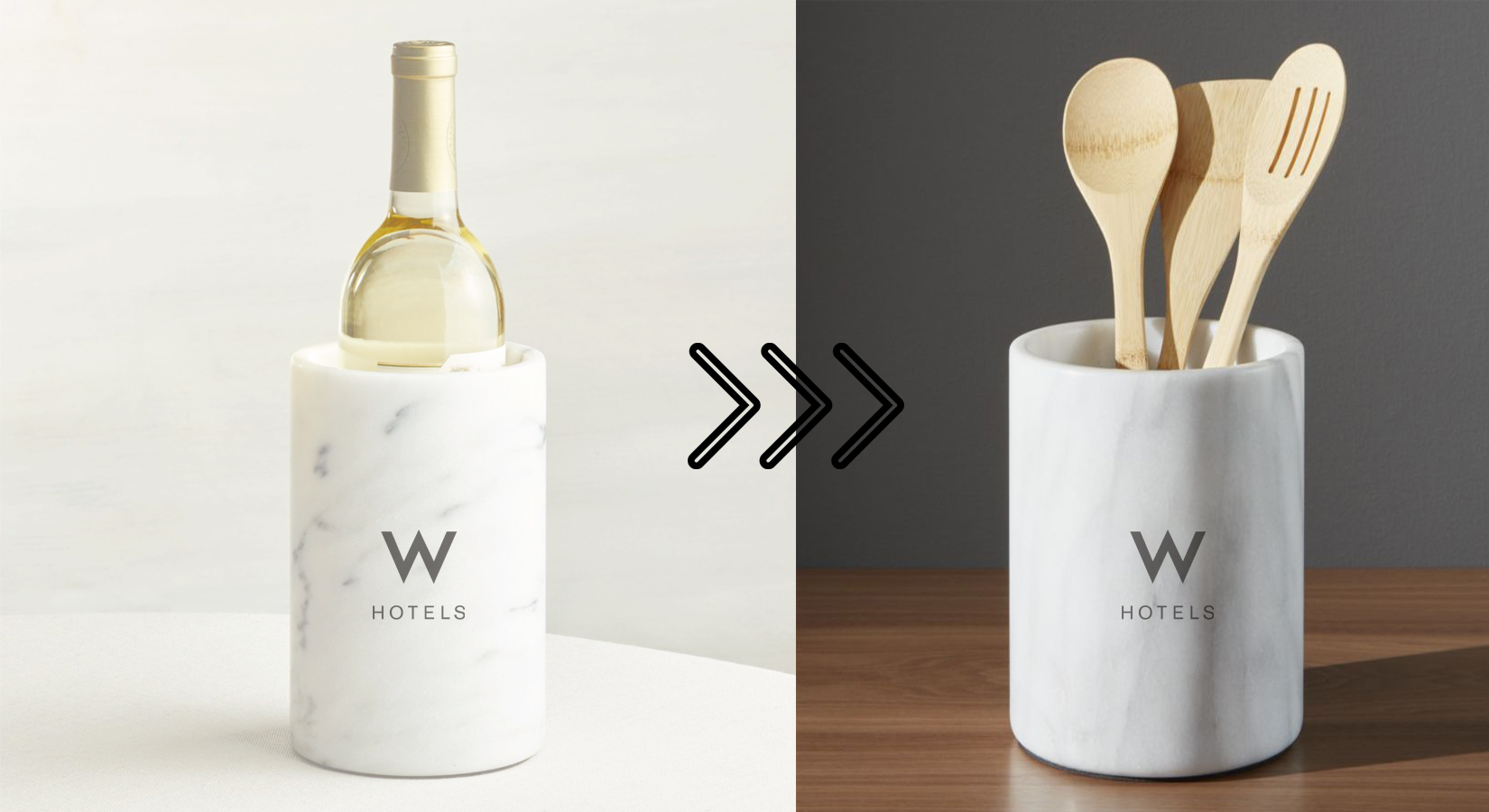 #25DaysOfGifting: Day 17 – White Marble Wine Chiller & Utensil Holder
