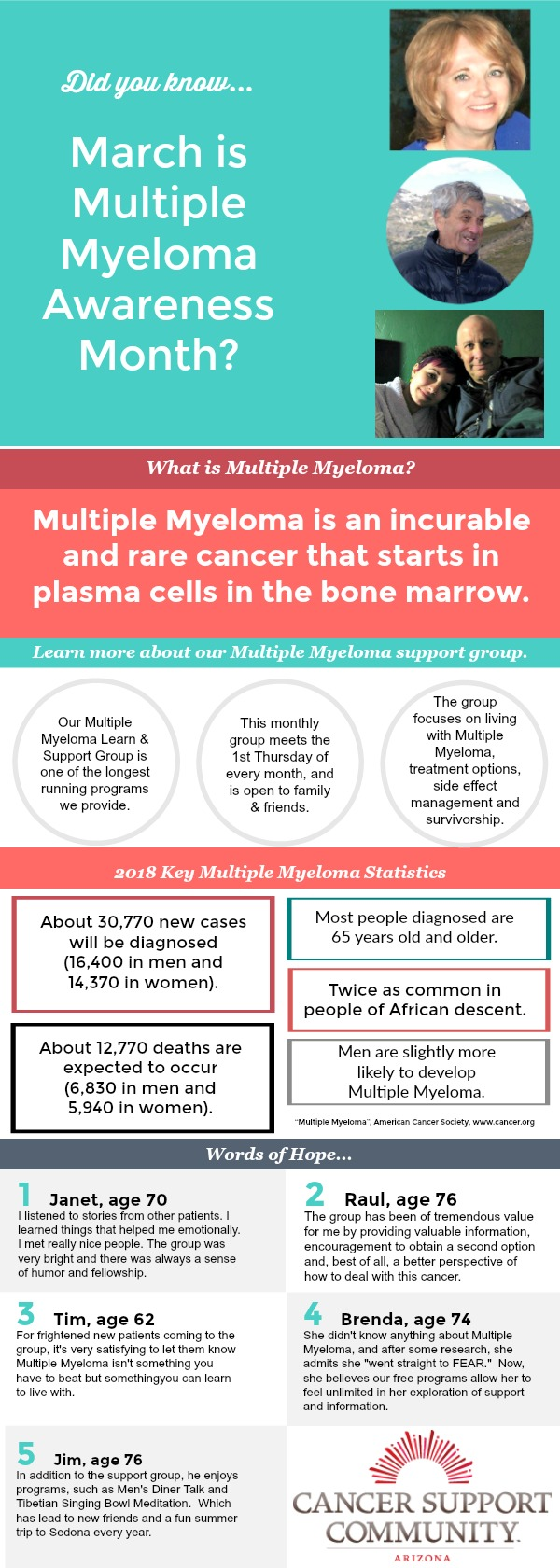 Multiple Myeloma Awareness Month - Cancer Support Community Arizona