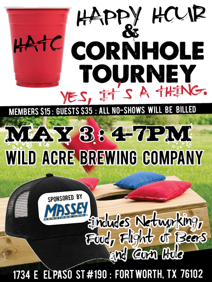 HATC Networking Happy Hour & Cornhole Tourney Presented by Massey Services