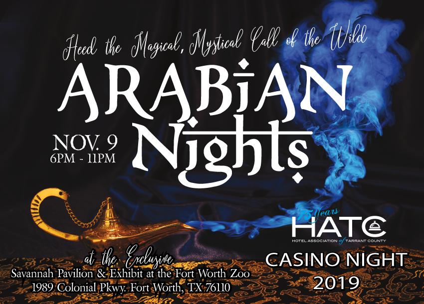 ARABIAN NIGHTS – 2019 HATC CASINO NIGHT