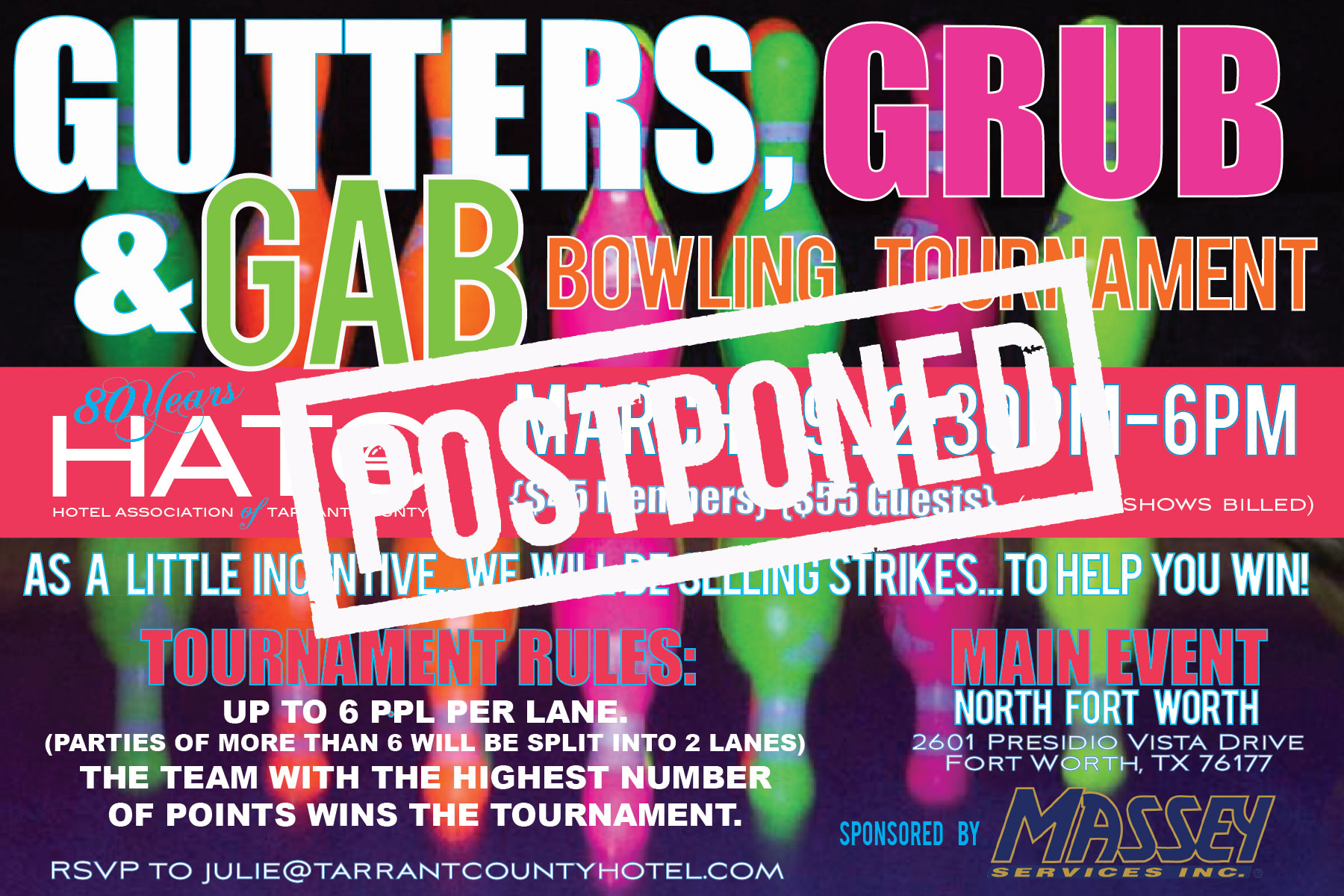 HATC Gutters, Grub and Gab Bowling Tournament March 2020