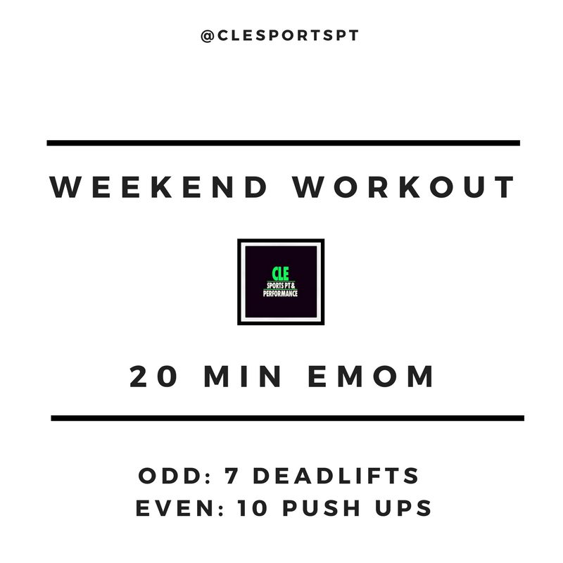 Weekend workout march 30