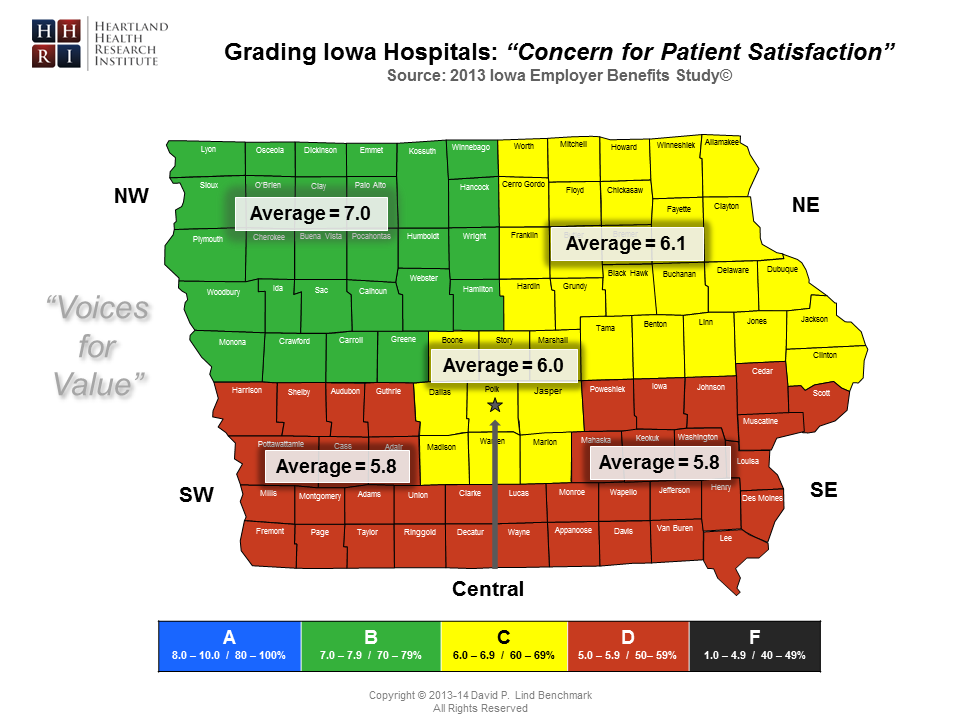 Regional - Concern for Patient Satisfaction by County Map-Master