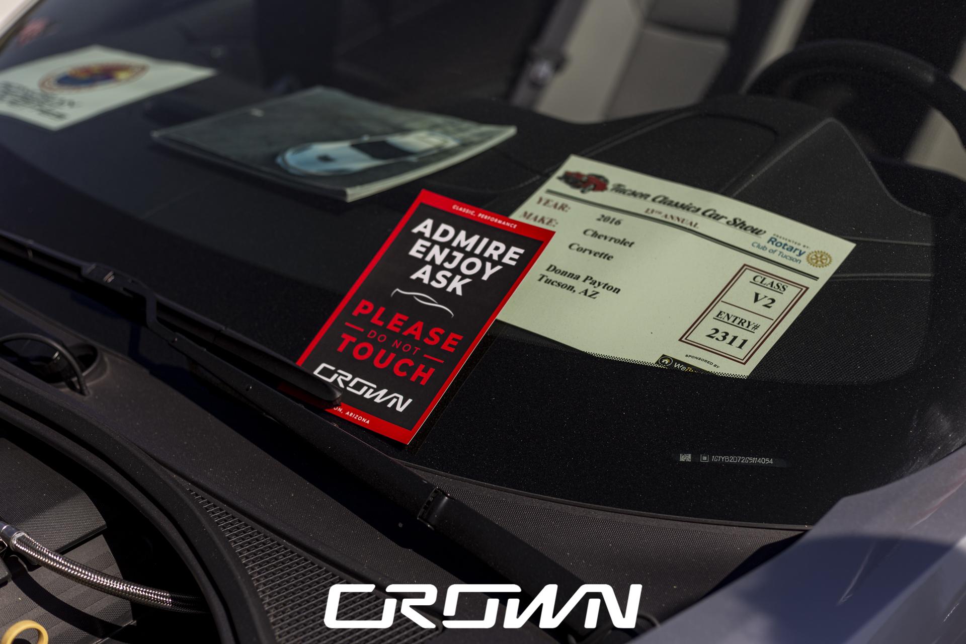 Crown Concepts C7 Corvette Silver Tucson Classic Car Show