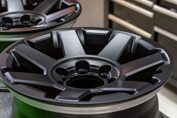 toyota 3rd wheel powder coat black