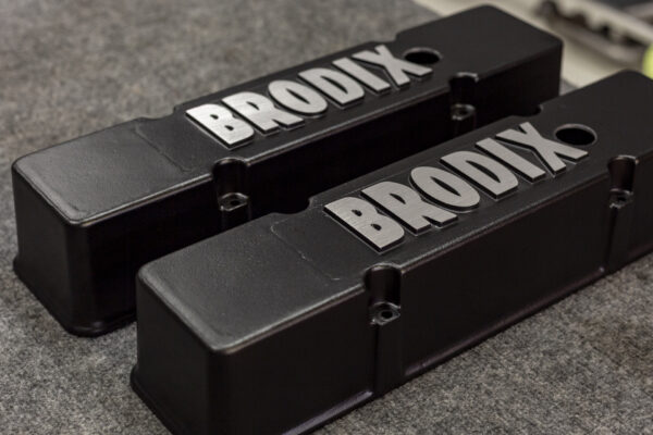 brodix valve cover chevy powder coat black