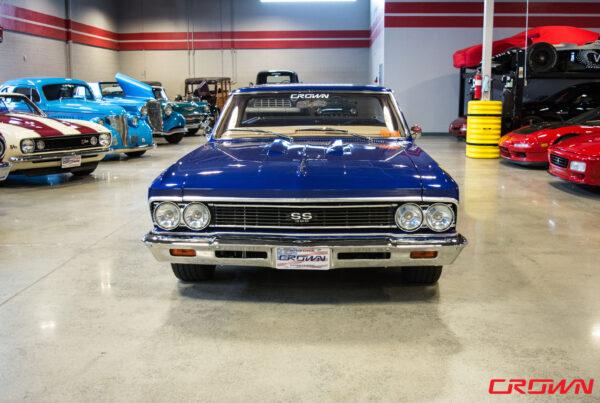 blue 1966 Chevy El Camino SS crown concepts tucson arizona