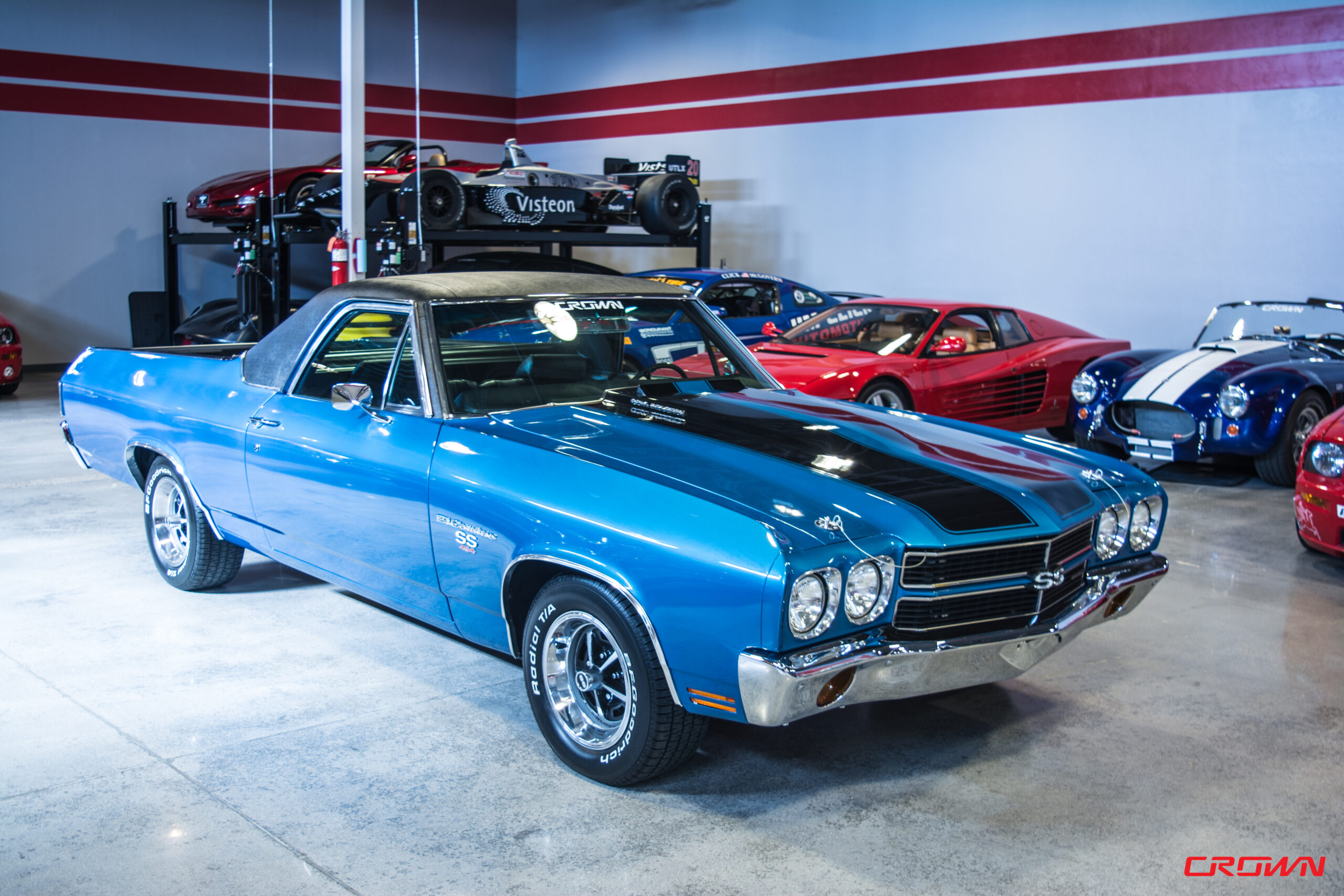 1970 Chevrolet El Camino Super Sport SS blue