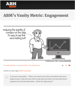 ABM In Action - Vanity Metrics Article