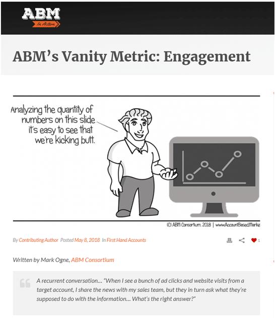 <h1>ABM Engagement</h1>