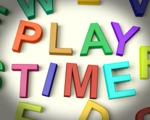 Play Time Written In Kids Letters