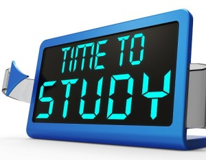 Time To Study Message Showis Education And Studying