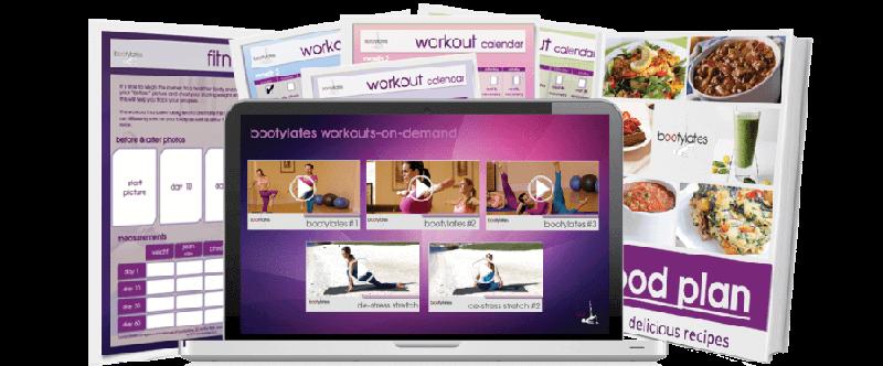 Bootylates Workout Calendar and Food Plan Image