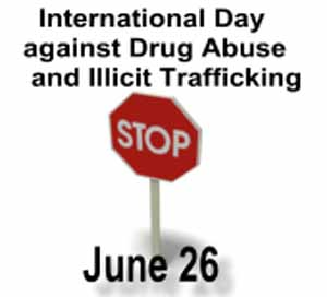 """World's Anti-Drugs Day- """"Let's think health not drugs"""""""