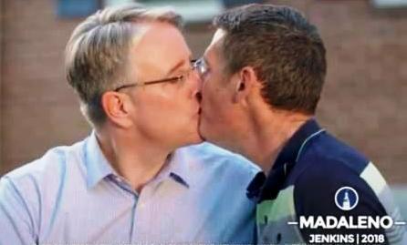 Proud Democrat Politician flaunts kiss in Trump's face