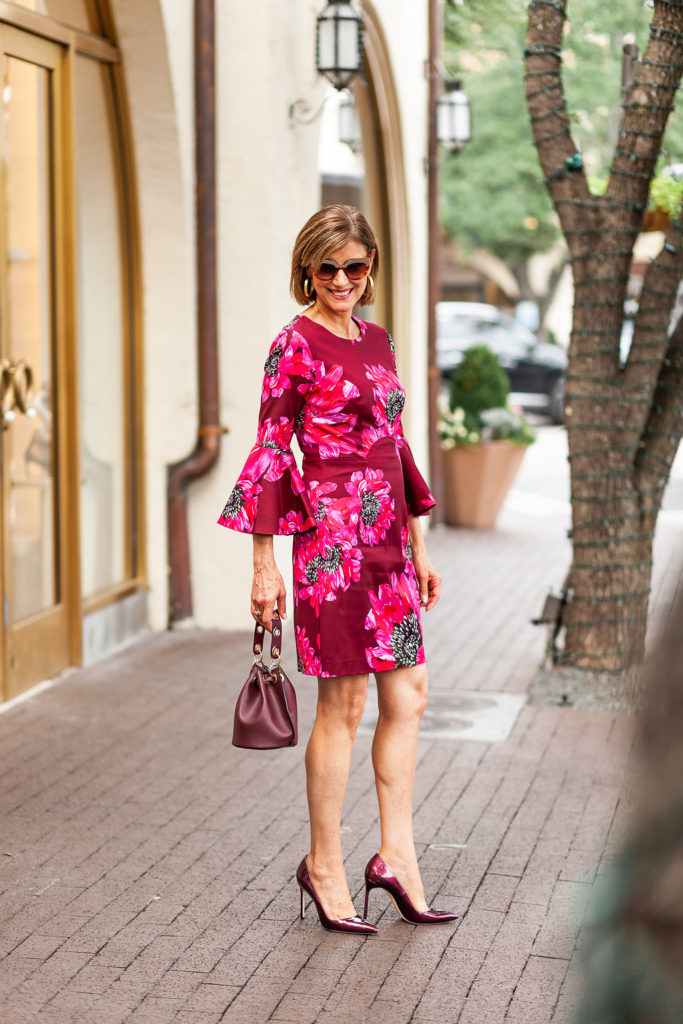 Wine is a great color and bucket bags with pumps for over 50 fashionista.