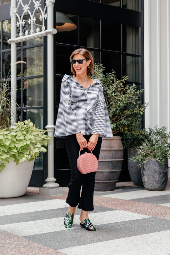 Alepel hand painted mules at Stanley Korshak on Dallas blogger.