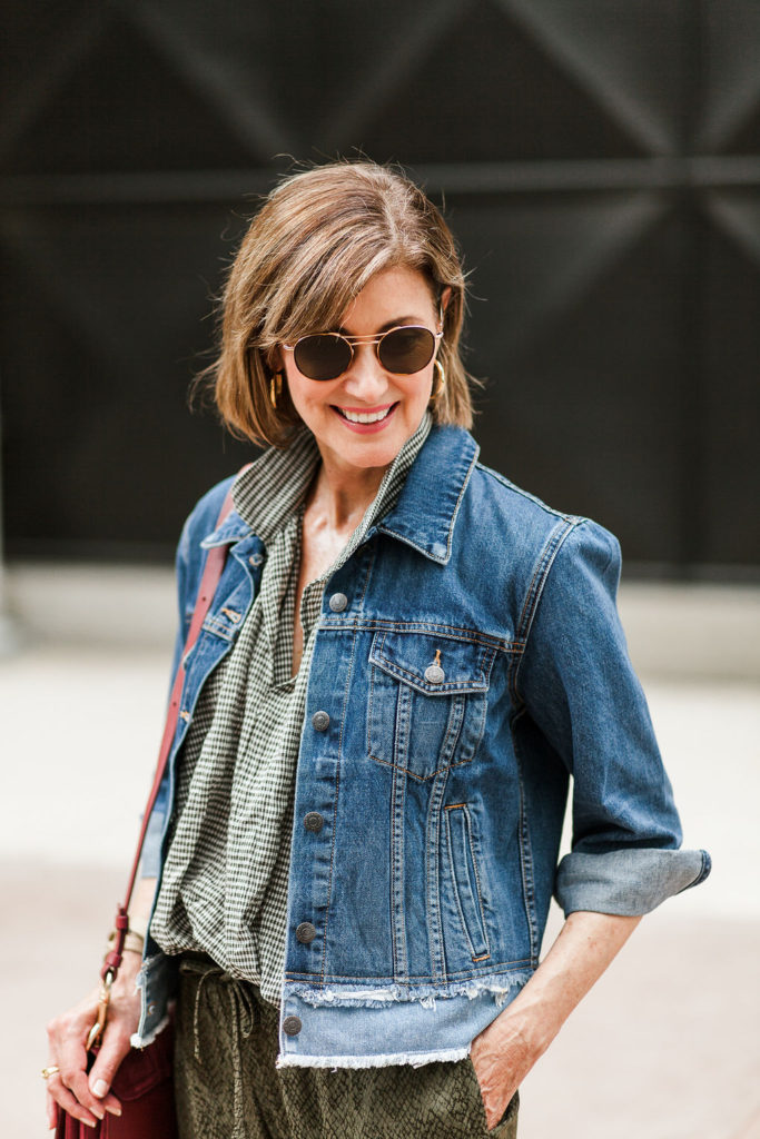 Veronica Beard jean jacket is the perfect addition