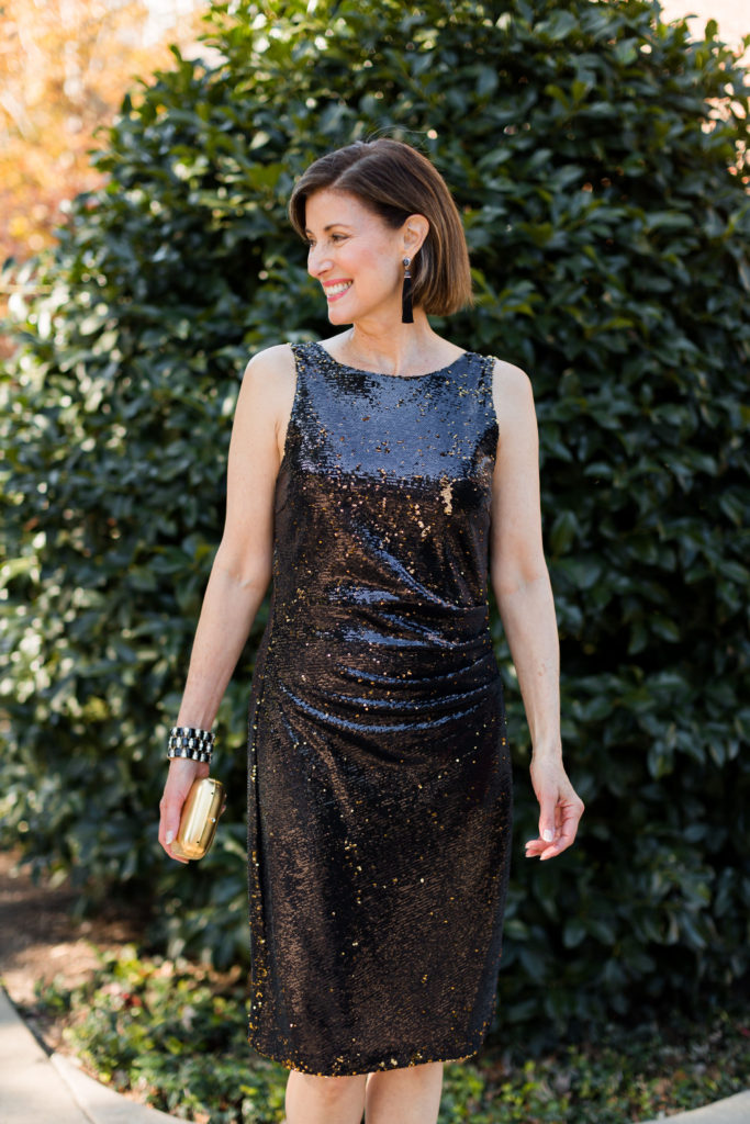 Fashionomics over 50 blogger holiday party looks