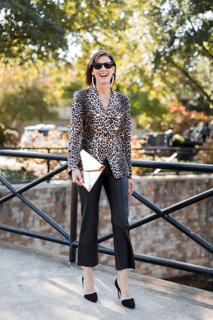 Rebecca Minkoff clutch with leopard-everything