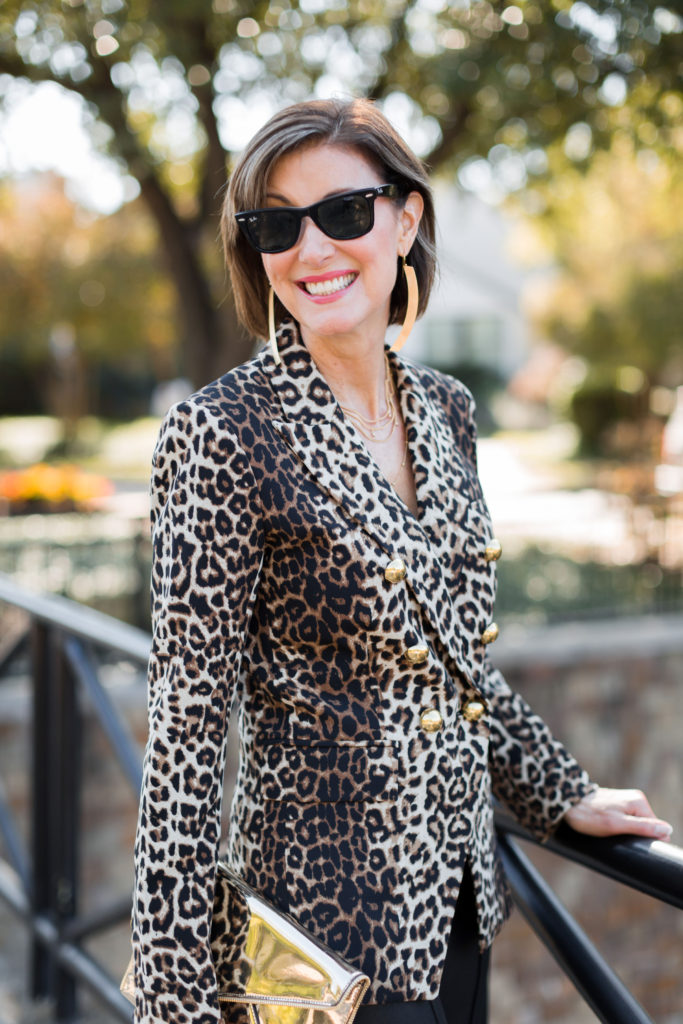 Gold details with leopard-everything from Claudia Lobao and Rachel Zoe box of style