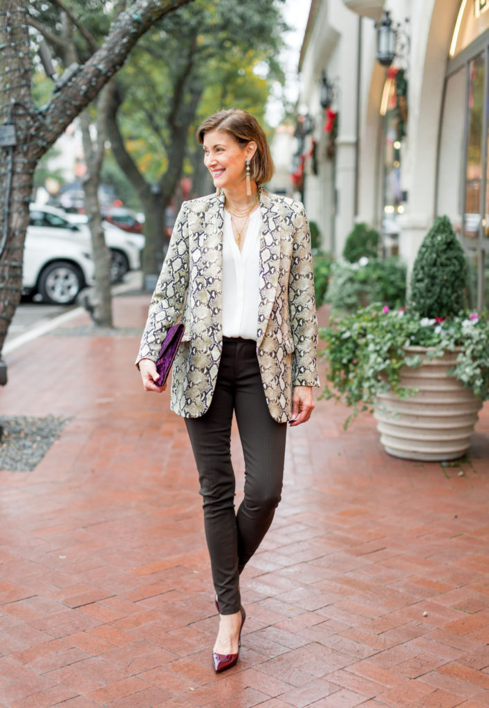Snakeskin is the new neutral in animal prints